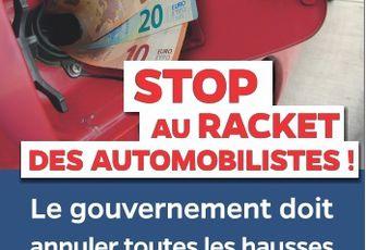 Stop au racket des automobilistes