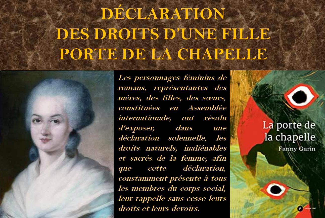 Présentation - Ecritures d'appropriation Olympe de Gouges