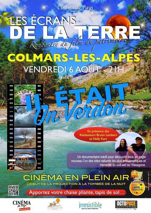 Affiche écran de la Terre le 6 août à Colmars les Alpes