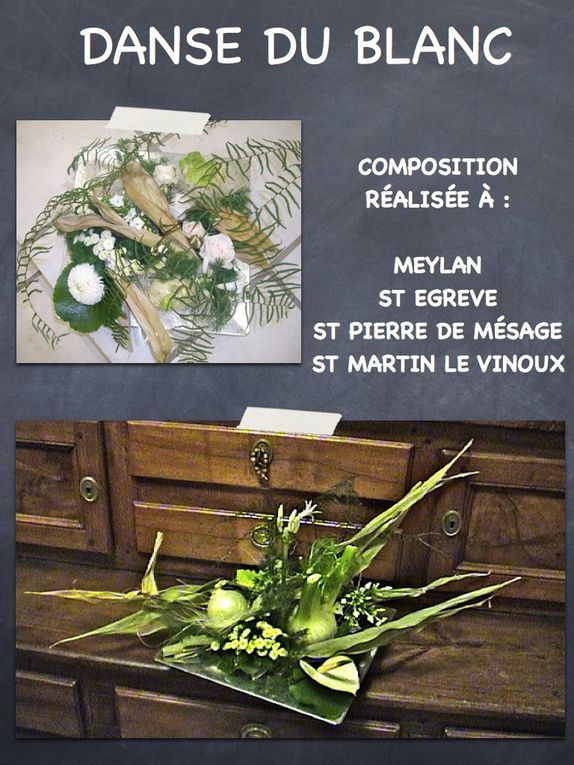 Photos des compositions réalisées au cours de Dominique