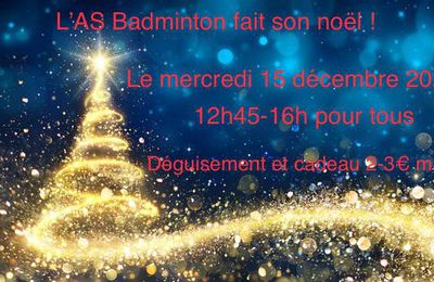 Le noël de l'AS Badminton 2020 !