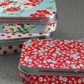 Green Bee: Fabric Covered Altiod Tins
