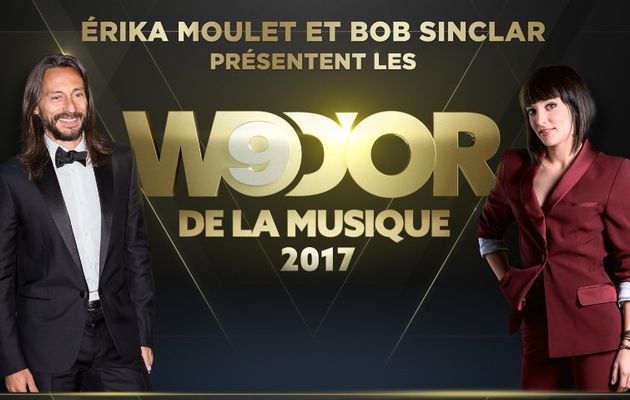 Érika Moulet et Bob Sinclar à la présentation des W9 d'Or 2017