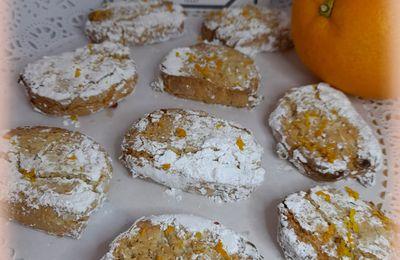 ricciarelli  biscuits italien à l'amande et orange