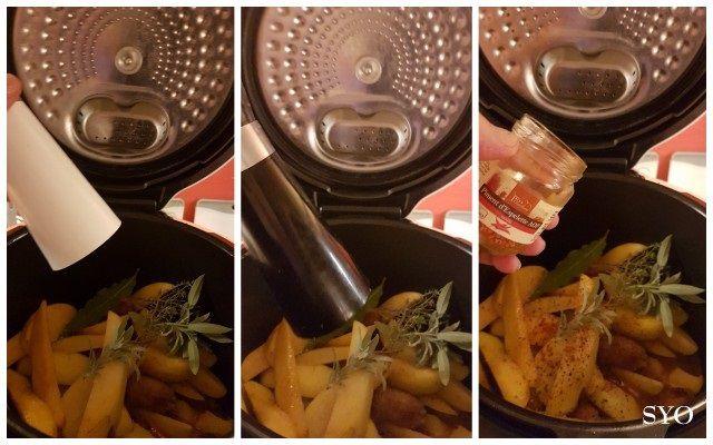 Saucisses au Chorizo et Pommes de terre au Paprika, du Petit Bistro, au Cookeo