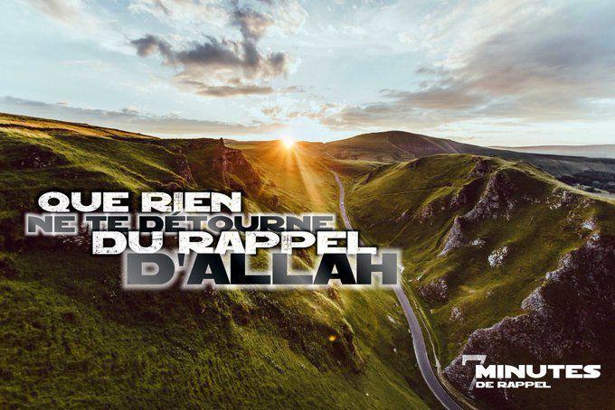 Que Rien Ne Vous détourne du rappel d'Allah