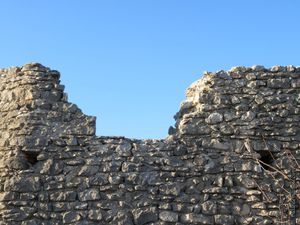 Quelques murs de l'ancien village