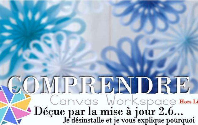 Je désinstalle la version 2.6 de Canvas Workspace...