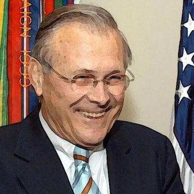 Donald Rumsfeld, faucon et vrai…