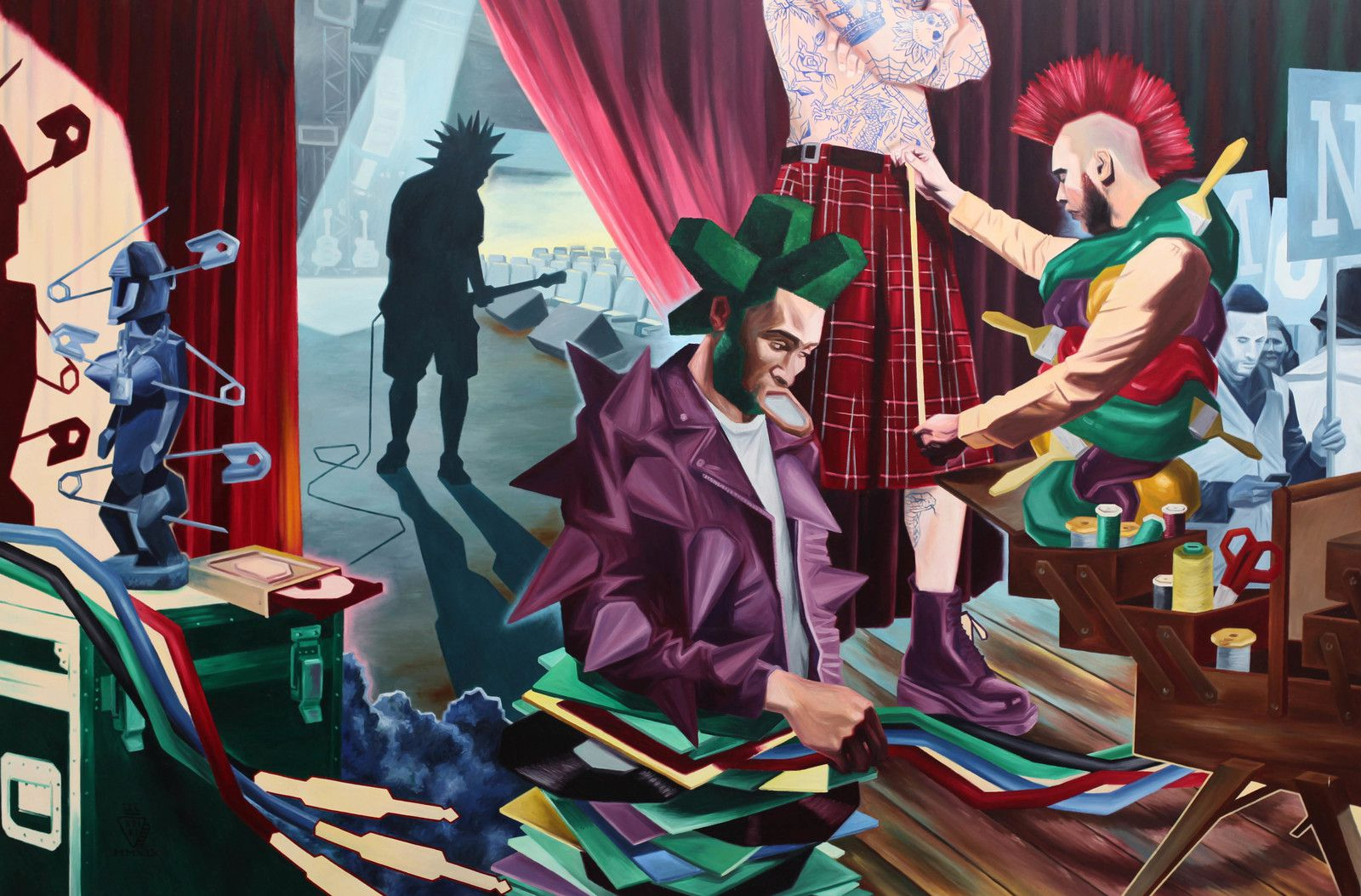 """Punkitude"", 2019 de KRIKI - Courtesy de l'artiste et de la galerie Galerie Suzanne TARASIEVE  Photo Éric Simon"