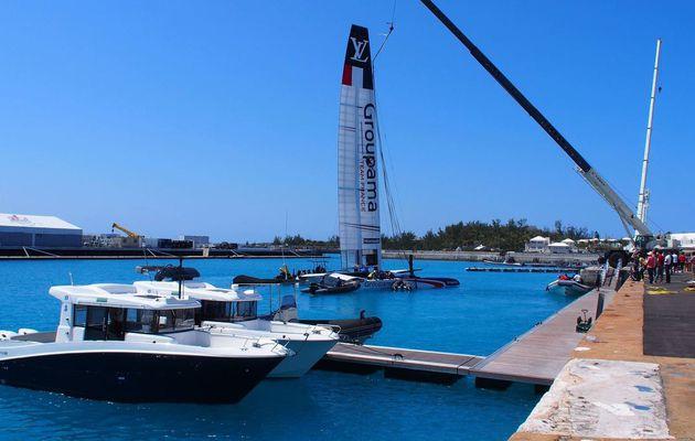 America's Cup - les plus belles photos des 2 Bénéteau Barracuda 9 accompagnant l'AC50 de Groupama Team France