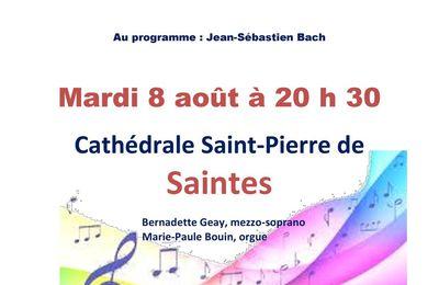Récital Bernadette Geay à Saintes le 8 aout