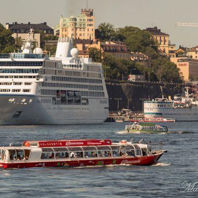 Suède : Trafic maritime entre Stockholm et Vaxholm