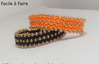Tutoriel: bracelet manchette macramé perlé facile à faire