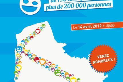La Route vers Londres 2012 le samedi 14 avril : 200 000 personnes pour une chaîne humaine de 190 km