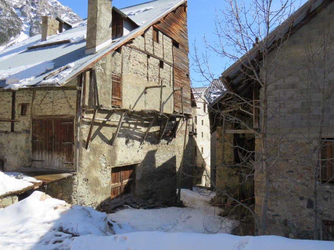 Village de montagne du Briançonnais, entre Queyras et Italie,