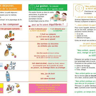 Informations essentielles concernant le petit-déjeuner et le goûter de nos enfants 😉