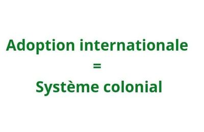 Adoption internationale = Système colonial