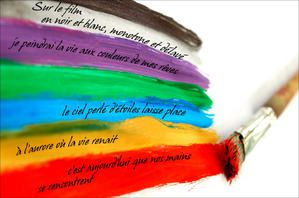 calligramme- couleurs