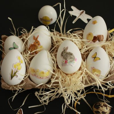 Décorer les oeufs de Pâques !!!