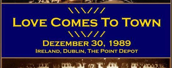 U2 -Lovetown Tour -30/12/1989 -Dublin  Irlande -Point Depot #3