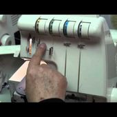 Newcastle Sewing Centre. Bob Shows how to set up and use an overlocker