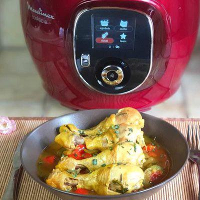 Pilons de Poulet et Légumes au Curry au Cookeo ! (6SP la part)