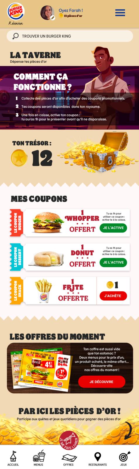 Appli Burger King Réunion