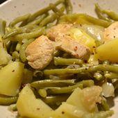 Haricots verts pommes de terre poulet cookeo |
