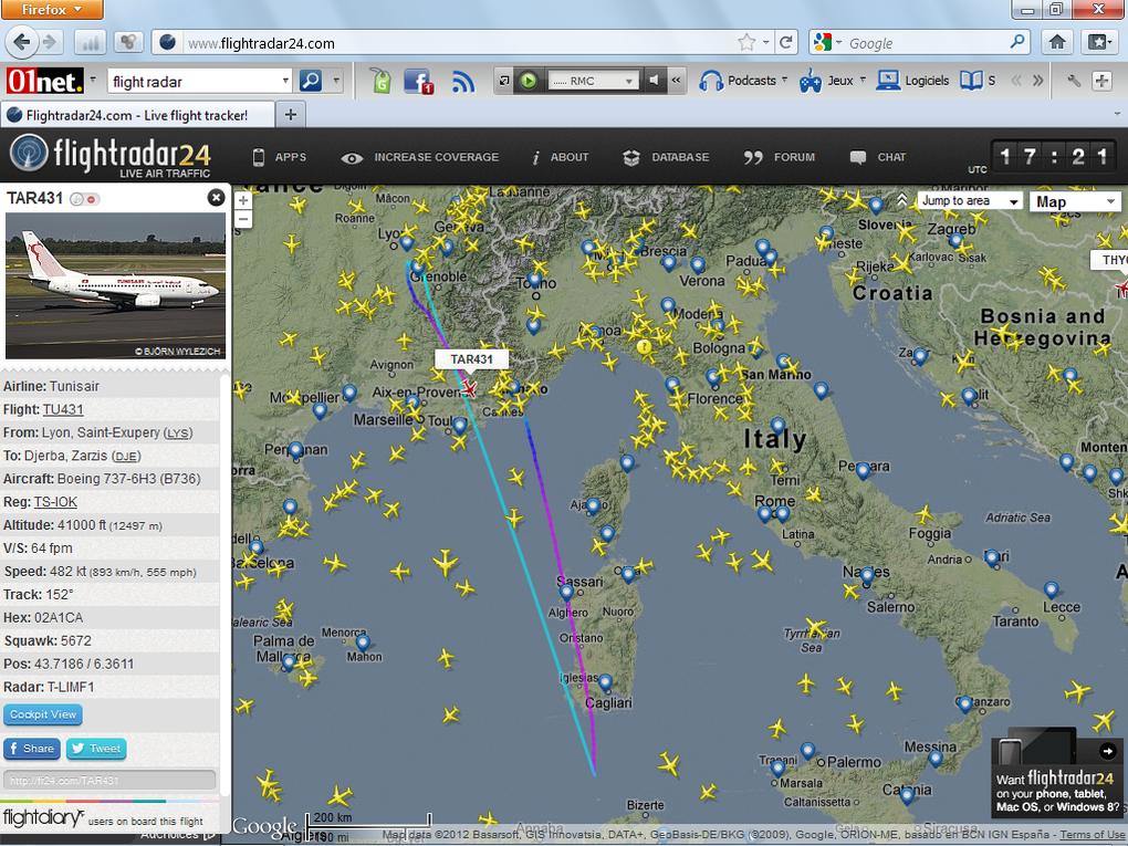 Album - Flight Radar 24 : Avions-Maghreb