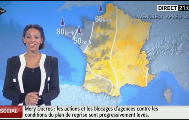 [EN CE MOMENT] ALICIA FALL pour LE MÉTÉO d'i>télé ce soir