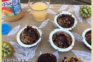 Muffins choco et éclats de pralin