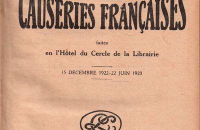 """J.-H. Rosny aîné """"Les Goncourt"""" in """"A travers la Librairie - Dix causeries françaises"""" (Cercle de la Librairie - 1923)"""