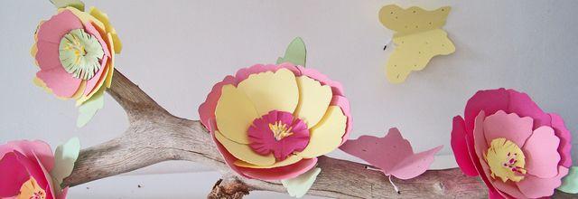 DIY: Des fleurs en papier pastel pour un centre de table .