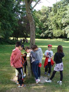 CE1: parcours d'orientation au parc de la Monniais
