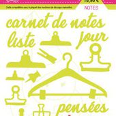 FDSDL014 : LOT DE 16 DIES NOTES Fée du Scrap