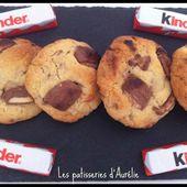 Cookies au kinder - Les pâtisseries d'Aurélie