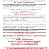 CGT - PSA Sochaux : pour l'augmentation des salaires tous en grève les 16 et 17 novembre 2018 - Ça n'empêche pas Nicolas