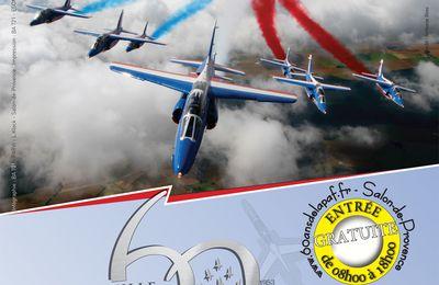 salon de provence 60 ans patrouille de france 30 ans base 701 alpha jet photos