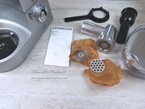 Présentation - Robot - Kenwood - Hachoir - 2020 - Cuisine - Repas - Recette - Viande - Saucisse - Cadeau - Fête des Mères