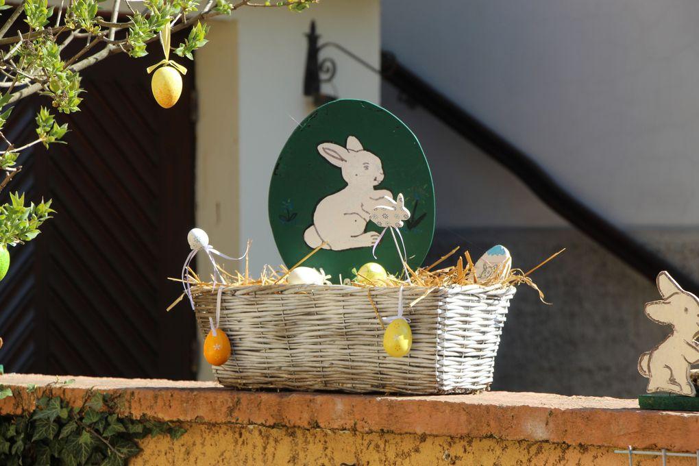 Pâques en Alsace, décorations de village