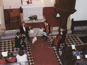 Le Quatuor VERLAINE au temple protestant d'Algrange en 1996