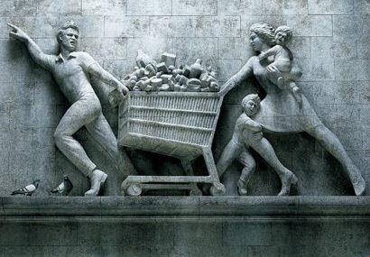 Oxymore visuel : supermarché soviétique...