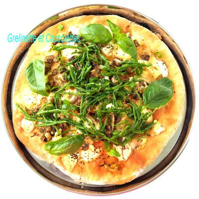 Pizza Bianca à la Buratta et aux Salicornes et Astuce