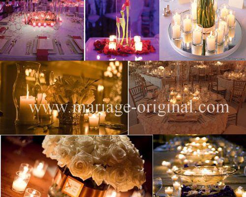 Bougies verre pour décoration de mariage: 1 bougie = 9 idées