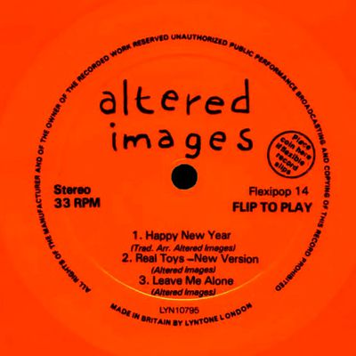 Altered images - happy new year - dec 1981 flexipop n°14