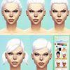 MF SIMS Intense White Ts4 Hair Retextures at Missfortune Sims