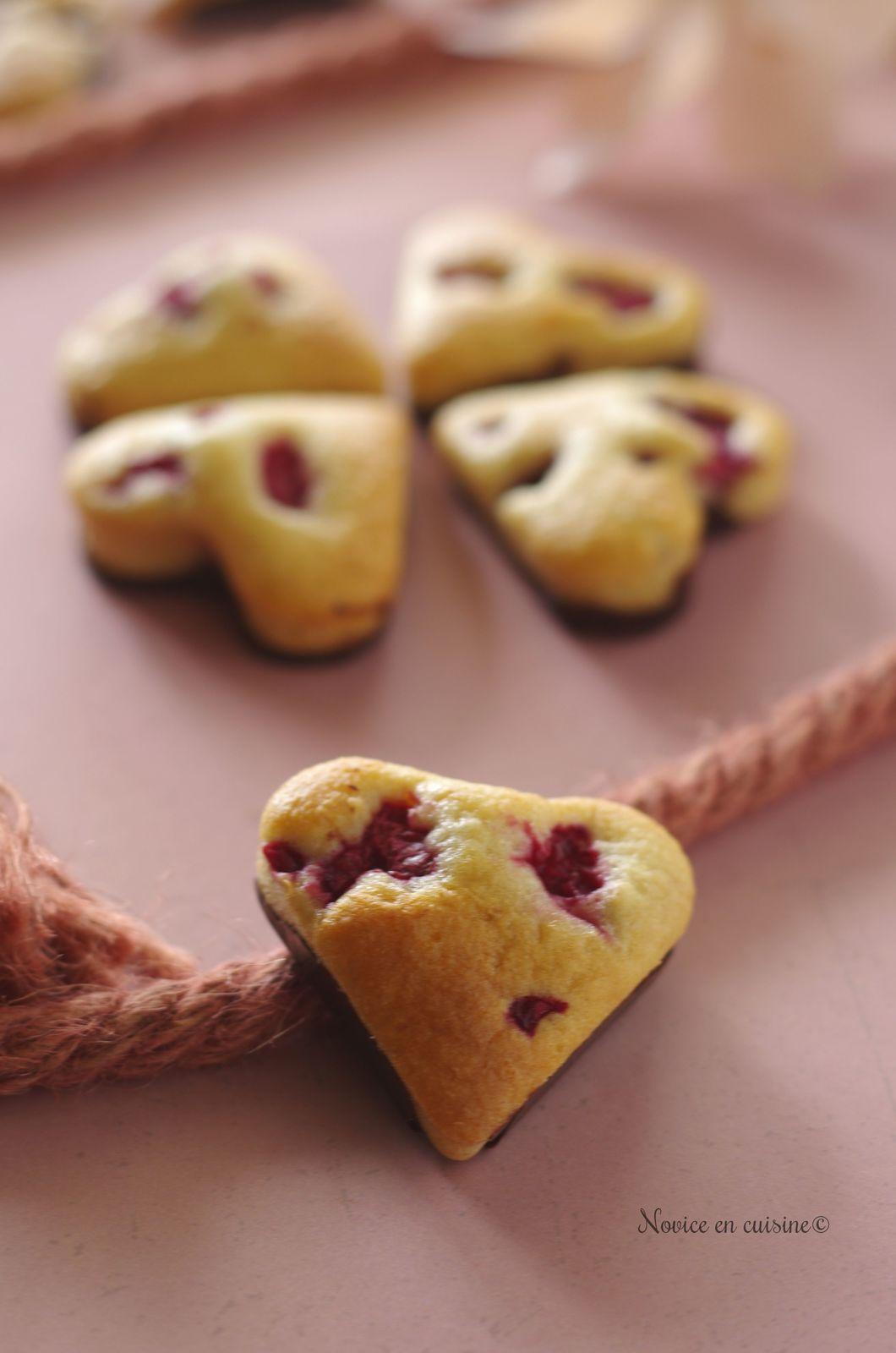 Cœurs vanille/soja et framboises coque chocolat