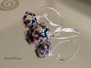 écailles ou pétales? perles et bijoux en verre filés au chalumeau par mes soins