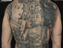 tatouage dos complet japan